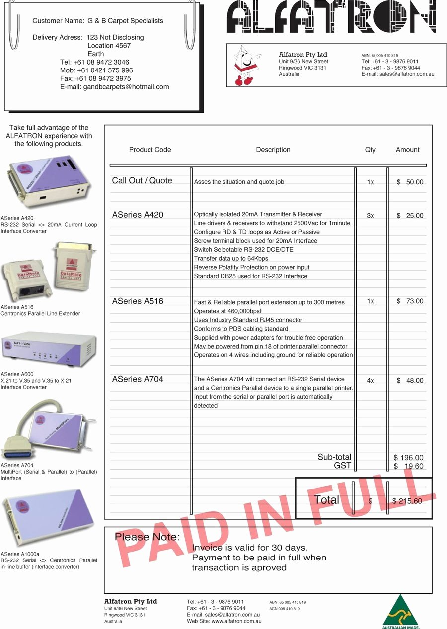 Paid In Full Invoice Template Unique Paid Invoice Receipt Template Invoice Template Ideas