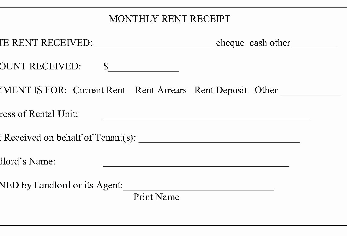 Paid In Full Receipt Template Elegant Template Paid In Full Template Rent Receipt for Tenant