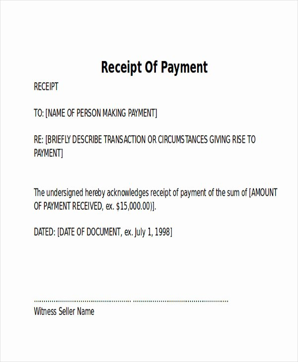 Paid In Full Receipt Template Lovely 8 Receipt Of Payment Letters – Pdf