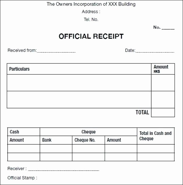 Paid In Full Receipt Template Lovely Cash Receipt Template Free Word Sample Ficial for
