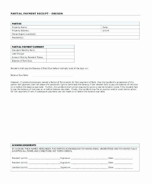 Paid In Full Receipt Template New Paid In Full Receipt Template Part Payment Receipt format