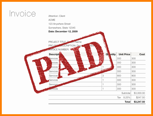 Paid Invoice Receipt Template Fresh Paid In Full Invoice Rusinfobiz