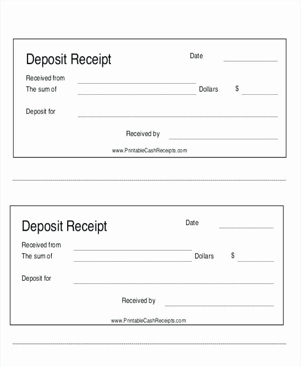 Paid Invoice Receipt Template Fresh Security Deposit Receipt Template Payment Cash format In