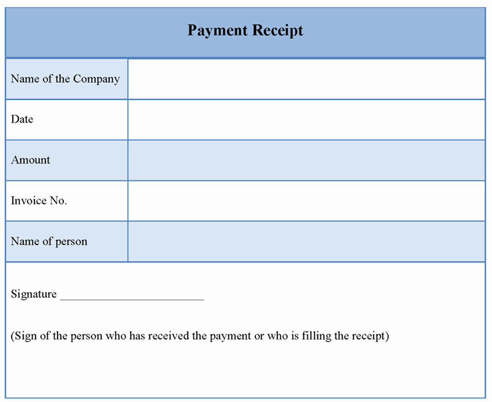 Paid Invoice Receipt Template Lovely Receipt Payment Template Word