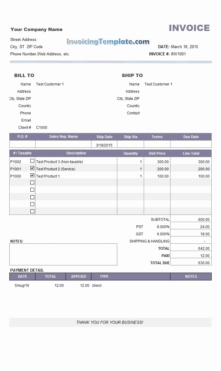 Paid Invoice Receipt Template New Invoice for Payment Template Invoice Template Ideas