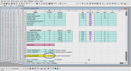 Painting Estimate Template Excel New Excel Estimating for Painters