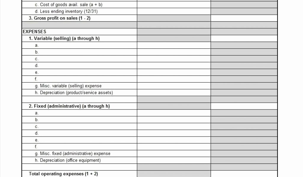 P&l Statement Template Awesome 14 Awesome Blank Profit and Loss Statement