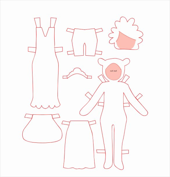 Paper Doll Clothes Template Awesome 12 Paper Doll Templates – Free Sample Example format