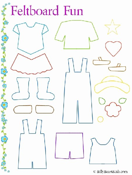 Paper Doll Clothes Template Awesome Felt Board Clothes Template Just for them