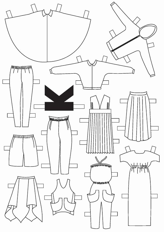Paper Doll Clothes Template Beautiful Diy Couture Paper Doll Clothing Template