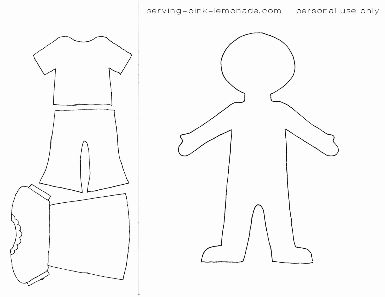 Paper Doll Clothes Template Elegant 15 Cut Out People Template Printable Paper People