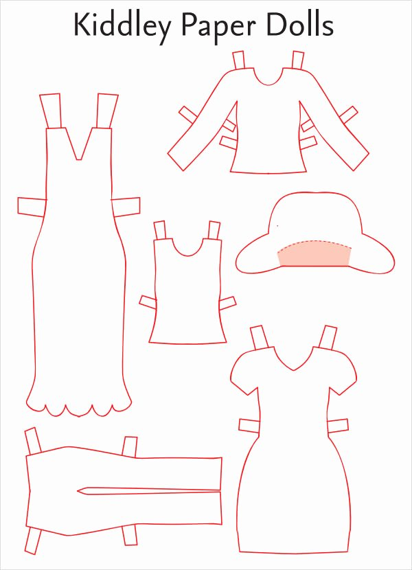 Paper Doll Clothes Template Elegant 8 Paper Doll Samples
