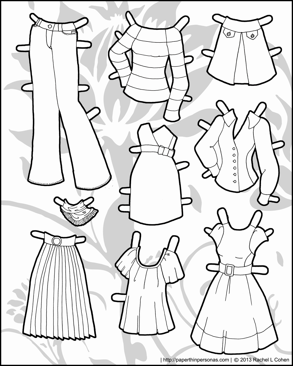 Paper Doll Clothes Template Elegant and yet More Clothing for the Ms Mannequin Printable Paper