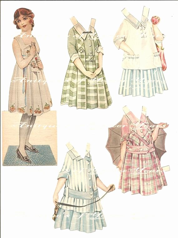 Paper Doll Clothes Template Fresh Items Similar to Vintage Paper Doll & Clothing Pattern