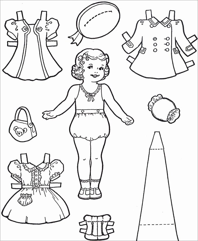 Paper Doll Clothes Template Fresh Paper Dolls