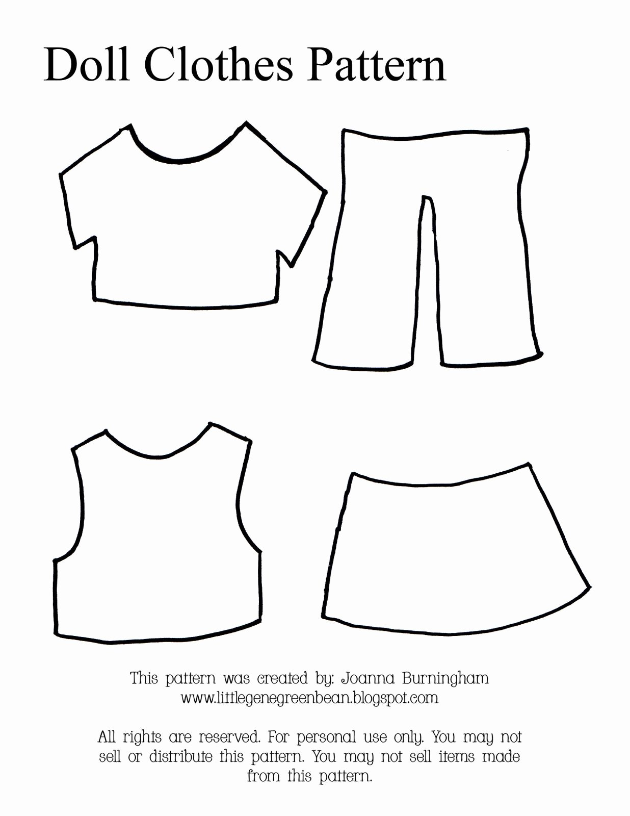 Paper Doll Clothes Template Lovely Little Gene Green Bean Four Quick Easy and Cheap