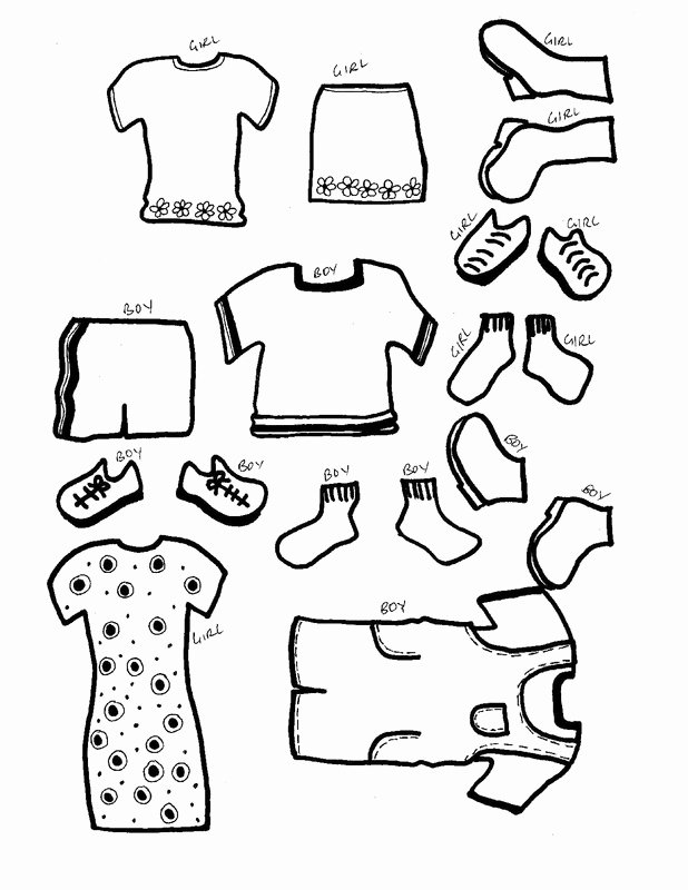 Paper Doll Clothes Template Luxury Paper Dolls with Clothes