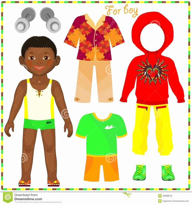 Paper Doll Clothes Template New 482 Best Images About Paper Dolls Black On Pinterest