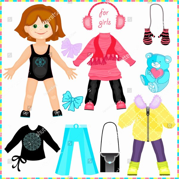 Paper Doll Clothing Template Beautiful 25 Printable Paper Doll Templates Free & Premium Download