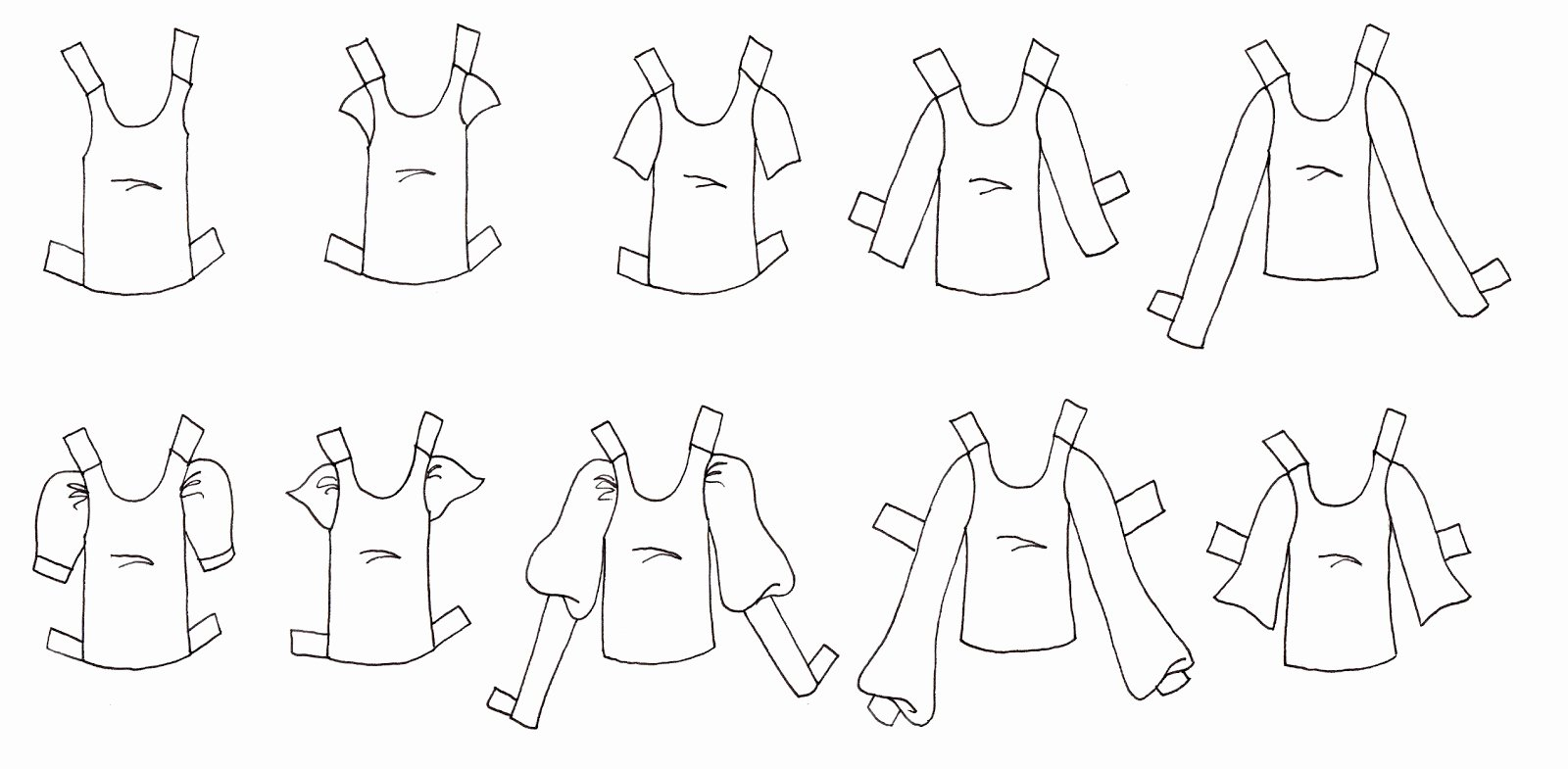 Paper Doll Clothing Template Best Of Paper Doll School Creating Versatile Clothing Templates