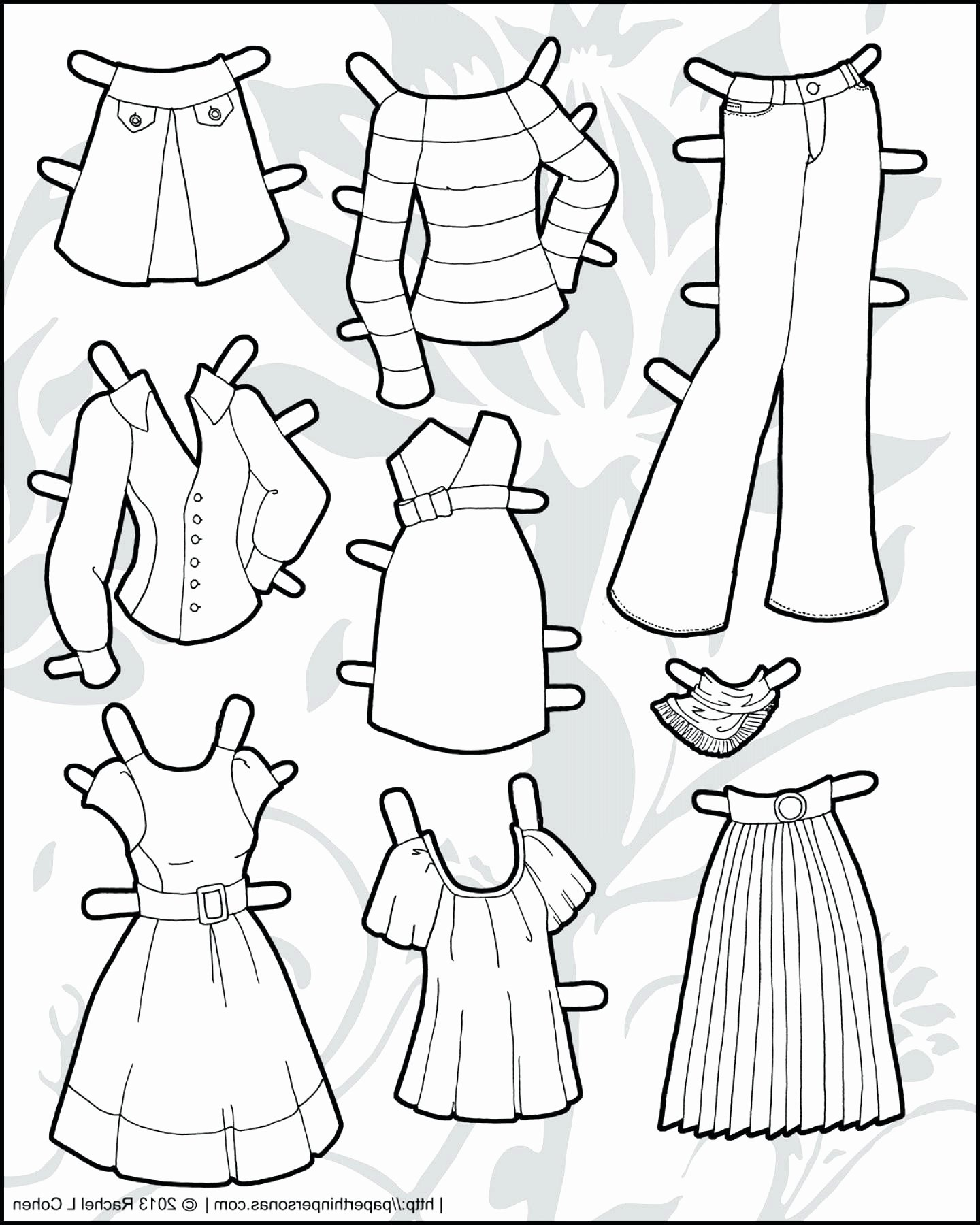 Paper Doll Clothing Template Best Of Printable Paper Doll Template