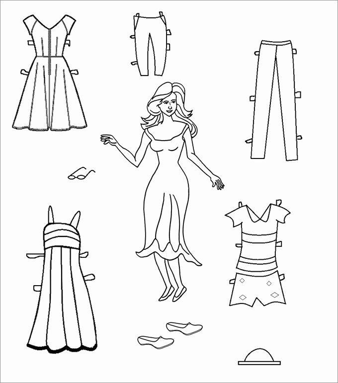 Paper Doll Clothing Template Lovely Paper Dolls