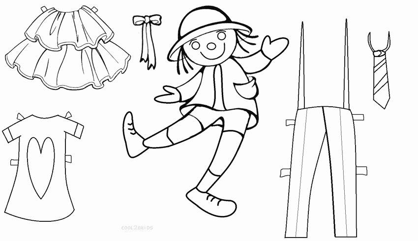 Paper Doll Clothing Template Unique Free Printable Paper Doll Templates