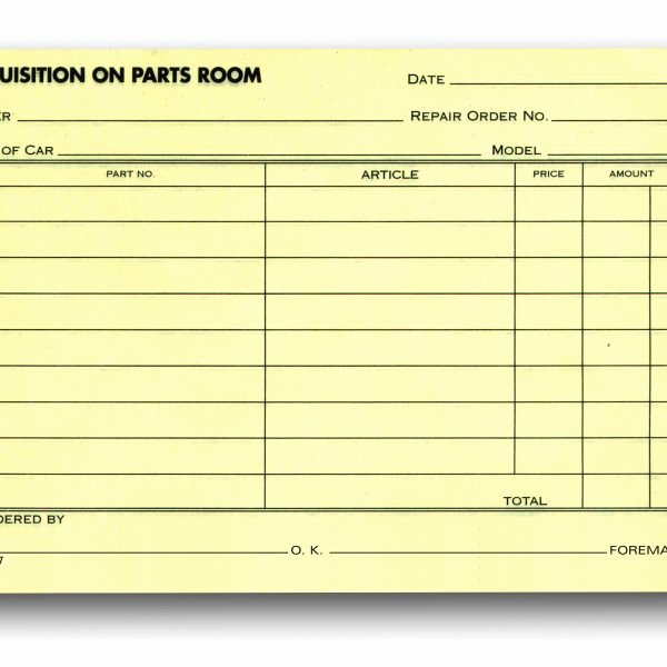 Part order form Template Unique 93 Parts order form Template Excel Part Request form