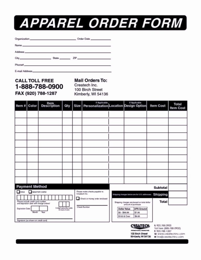Part order form Template Unique Parts order form Template Sampletemplatess