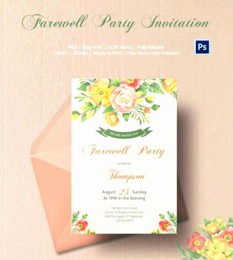Party Invitation Email Template Luxury Farewell Invitation Template Free Best Cards for Party
