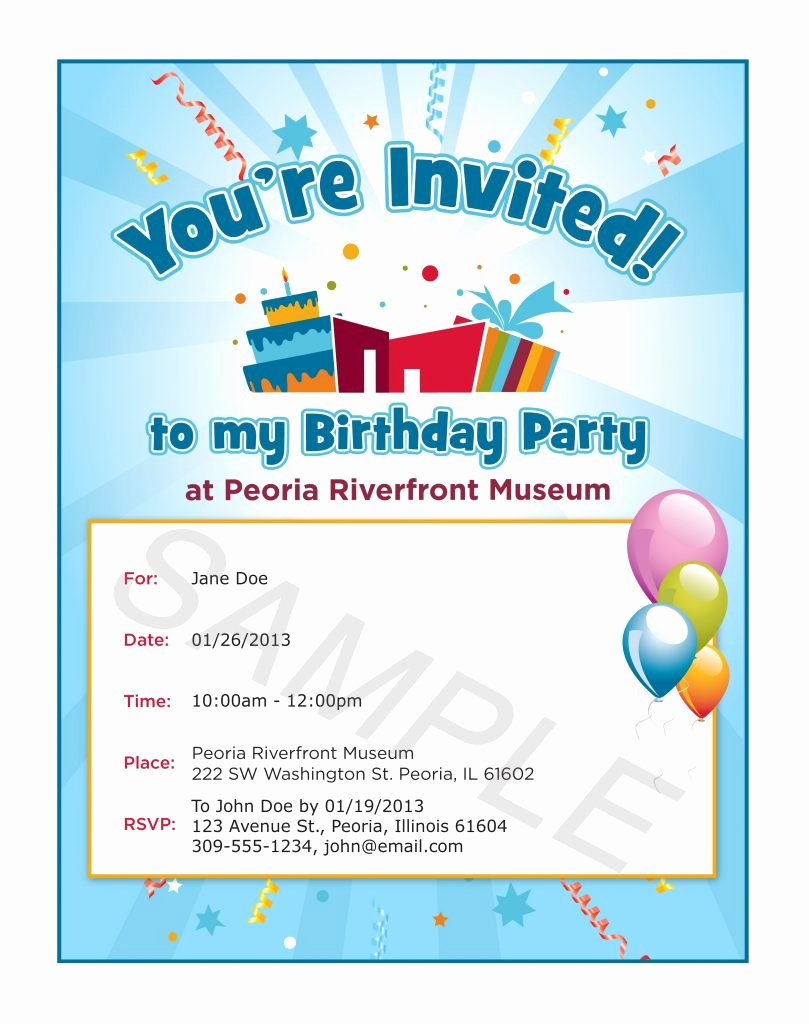 Party Invitation Email Template New Birthday Template Word Mughals