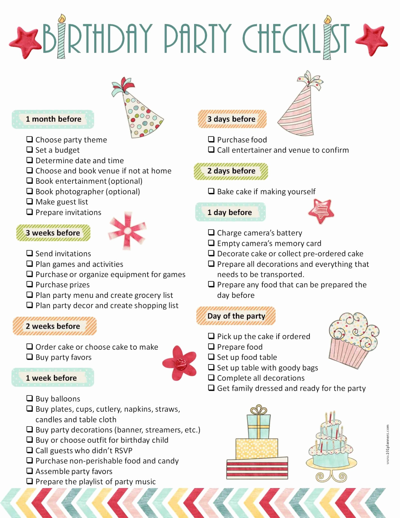 Party Plan Checklist Template Beautiful Party Planning Template