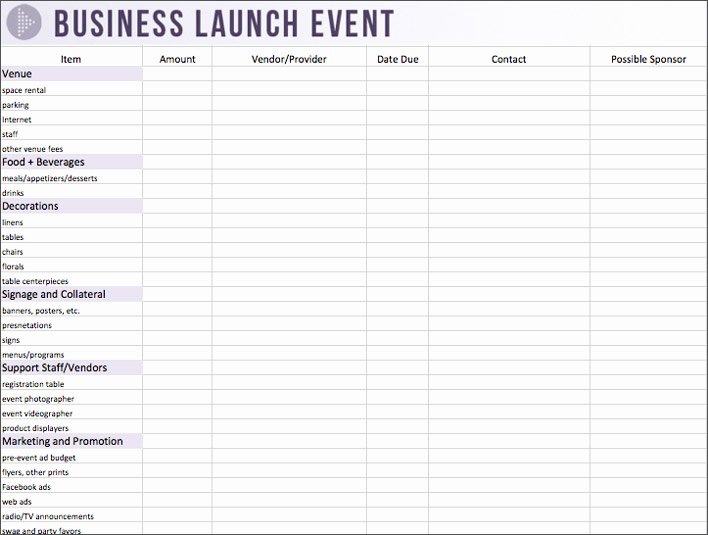 Party Planning Budget Template Beautiful event Planning Worksheet