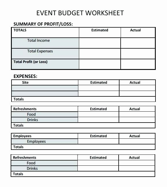 Party Planning Budget Template Beautiful Free Party Planning Bud Template Planner Printable Ant