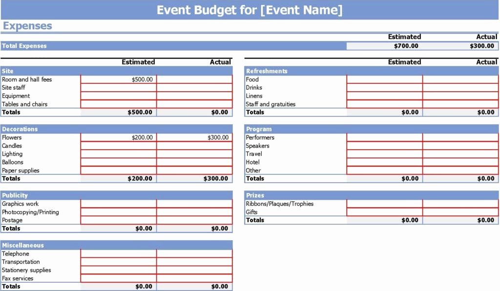 Party Planning Budget Template Best Of 9 event Bud Templates Word Excel Pdf formats