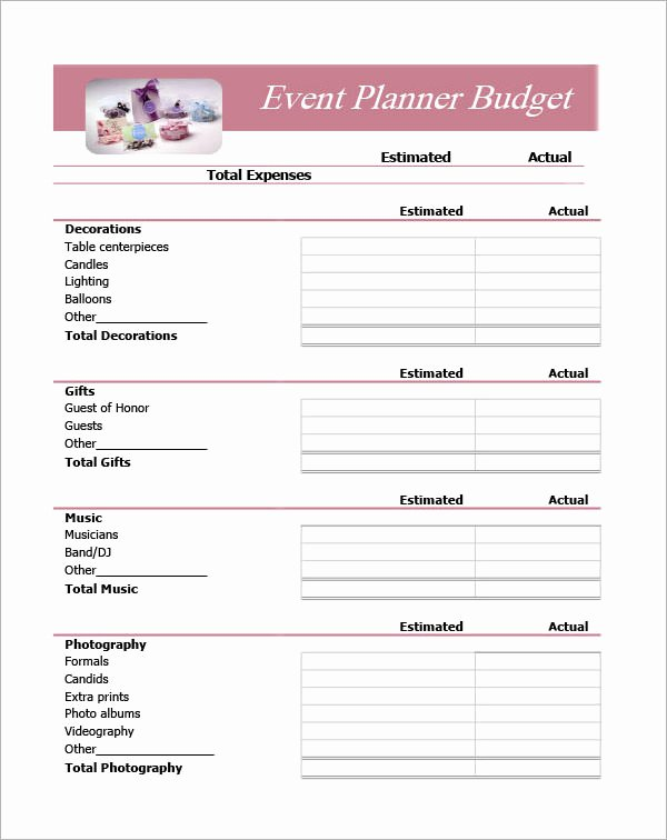 Party Planning Budget Template Lovely event Planning Template 11 Free Documents In Word Pdf Ppt