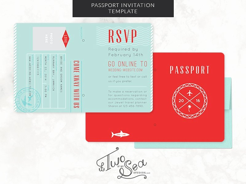 Passport Photo Template Psd Awesome Passport Wedding Invitation Template Wedding Templates