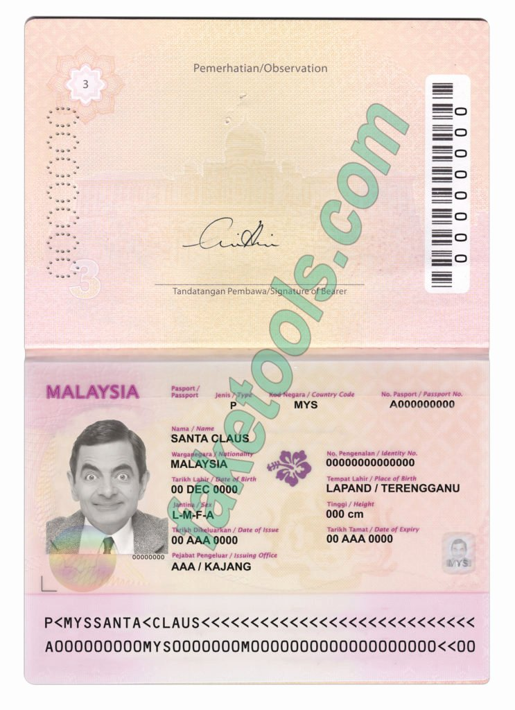 Passport Photo Template Psd Beautiful Malaysia Passport Psd Template Fake Id Template