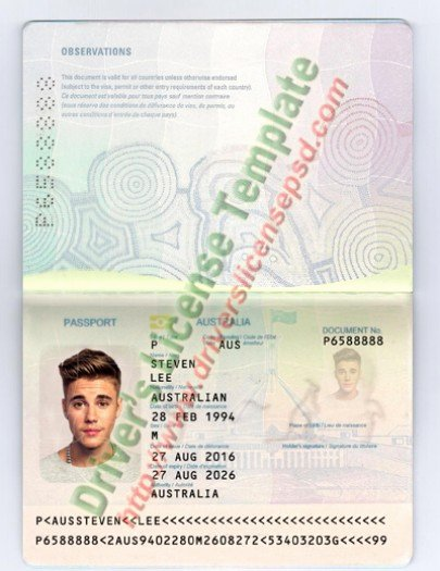 Passport Photo Template Psd Best Of Drivers License Fake Drivers License Drivers License