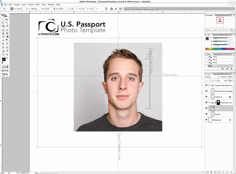 Passport Photo Template Psd Luxury Shop Passport Template V1 1