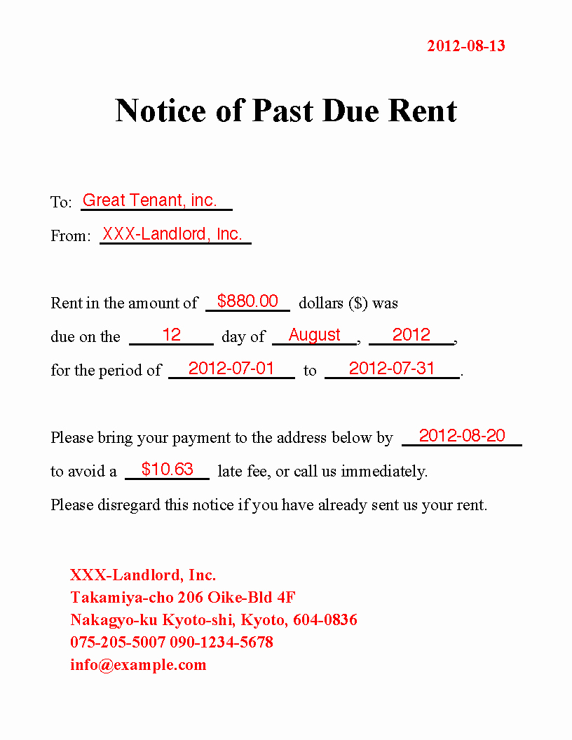 Past Due Invoice Template Lovely 10 Best Of Past Due Notice Sample Final Notice