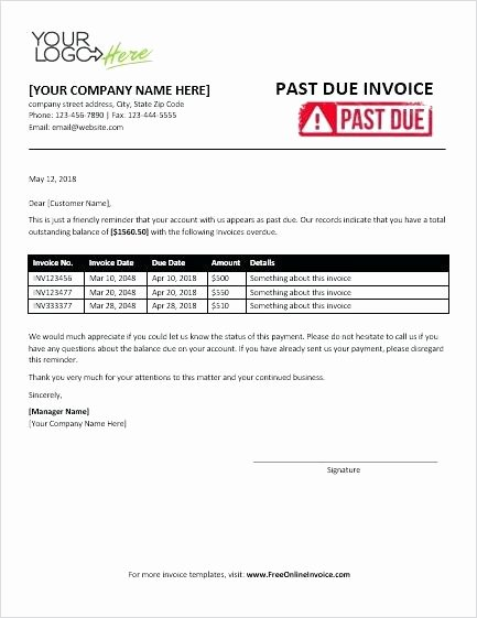 Past Due Invoice Template New Past Due Invoice Invoice Past Due Notice Template Well