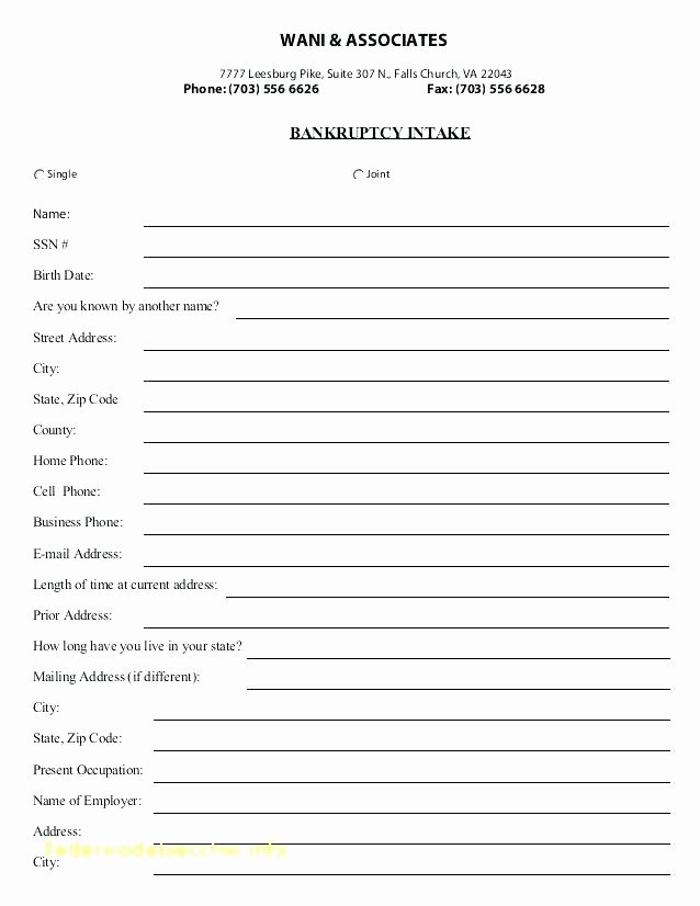 Patient Intake form Template Awesome New Customer Information form Template Excel Templates