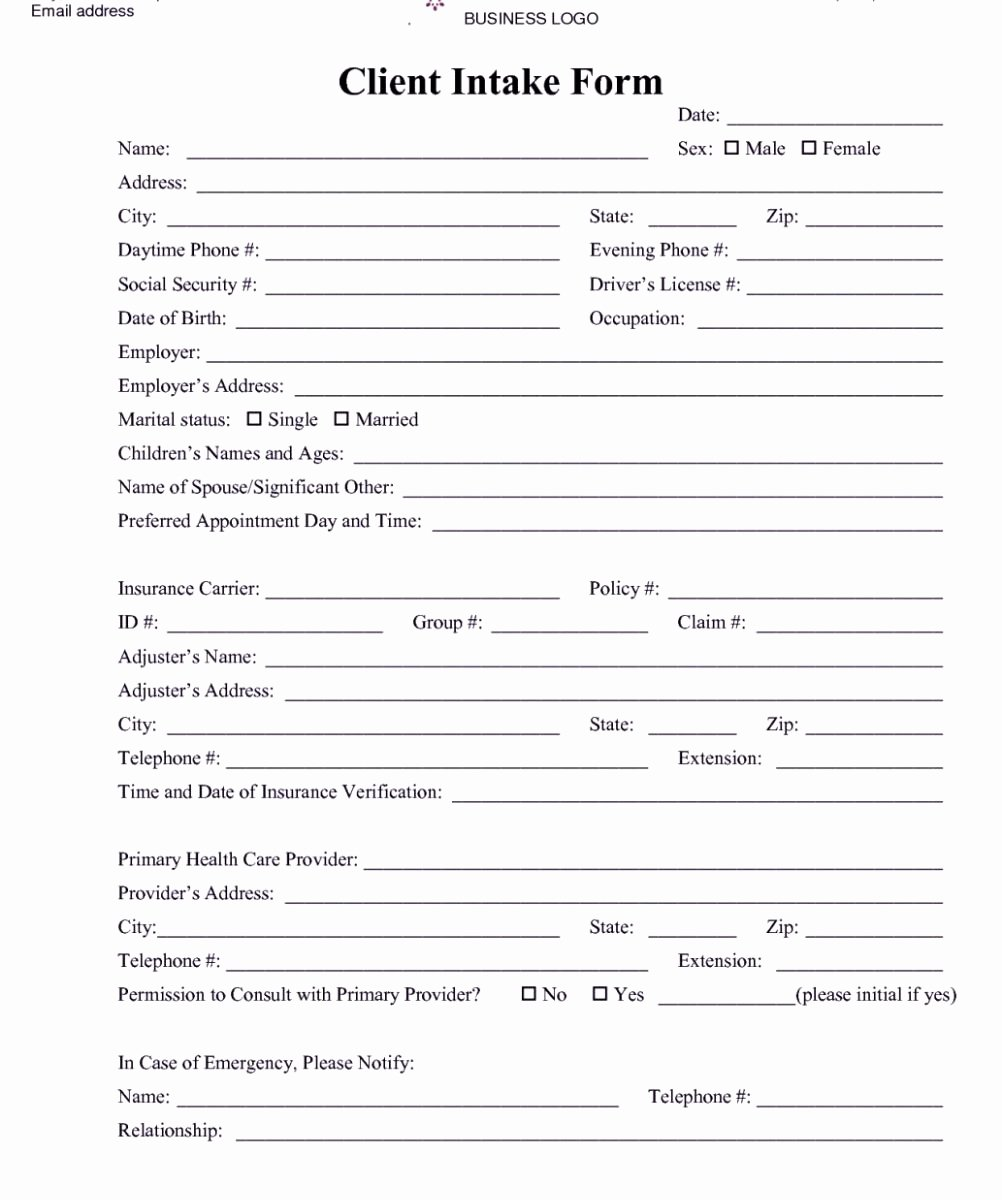 Patient Intake form Template Best Of Free Patient Intake form Template – Radiofama