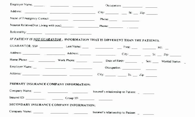 Patient Intake form Template Best Of Patient Intake Template Client Memo form Word – Superscripts