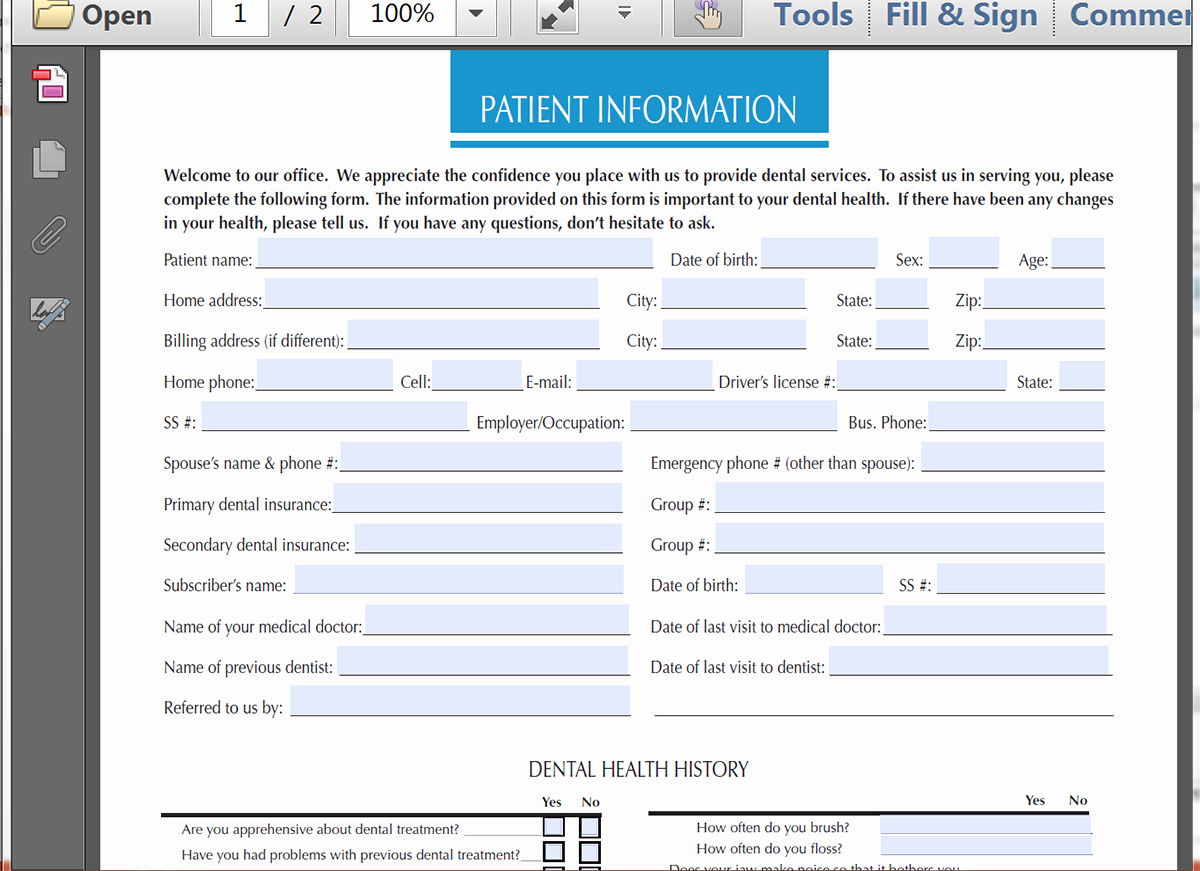 Patient Intake form Template Luxury Populate A Patient Intake form with Ninja forms
