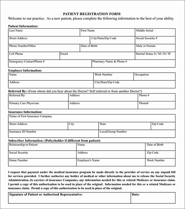 Patient Registration form Template Awesome New Patient Registration forms Movie Search Engine at