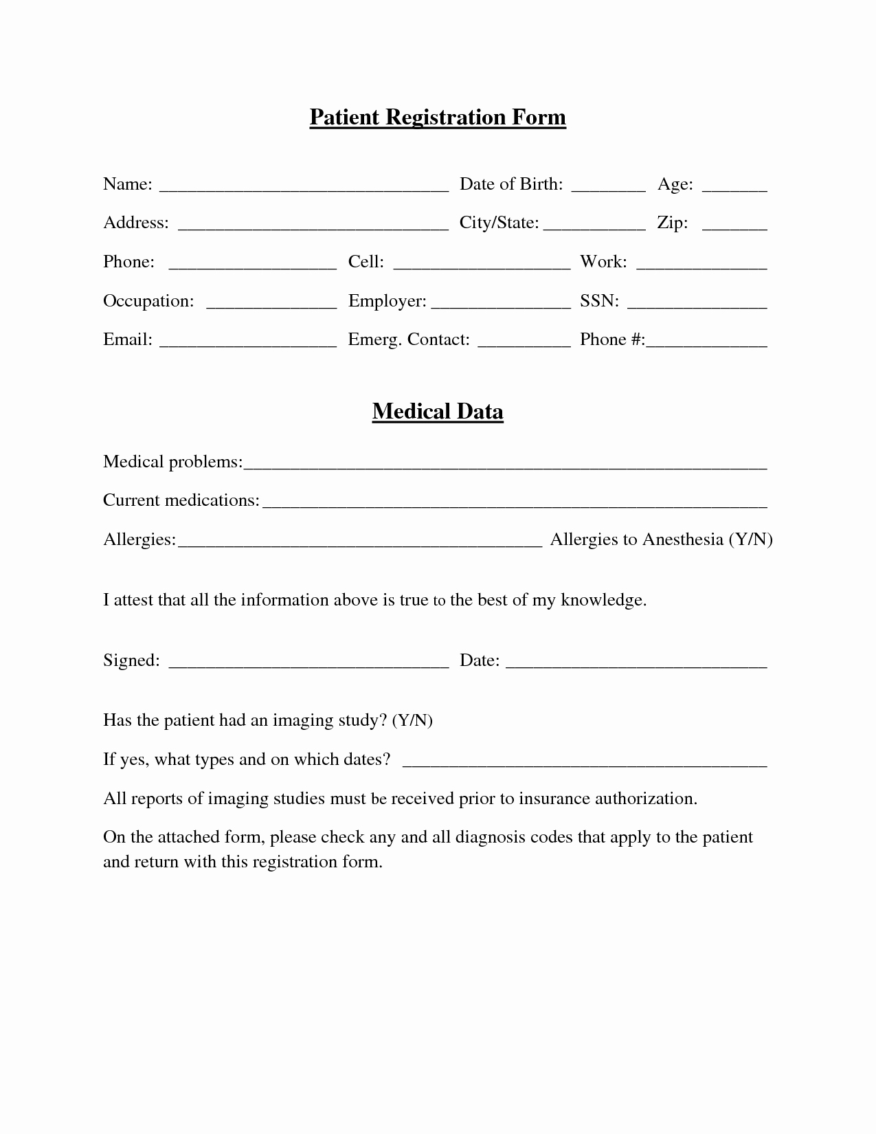 Patient Registration form Template Fresh Best S Of Medical Fice forms Templates Medical
