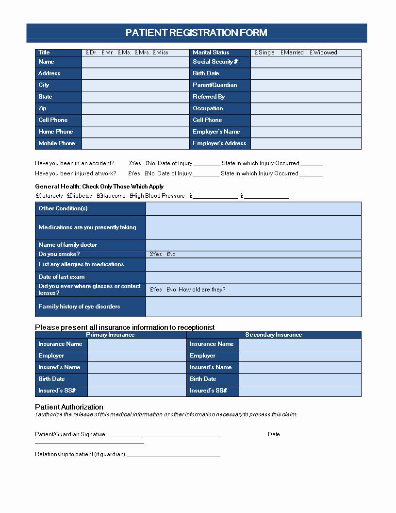 Patient Registration form Template Fresh Patient Registration form are You Looking for A Patient