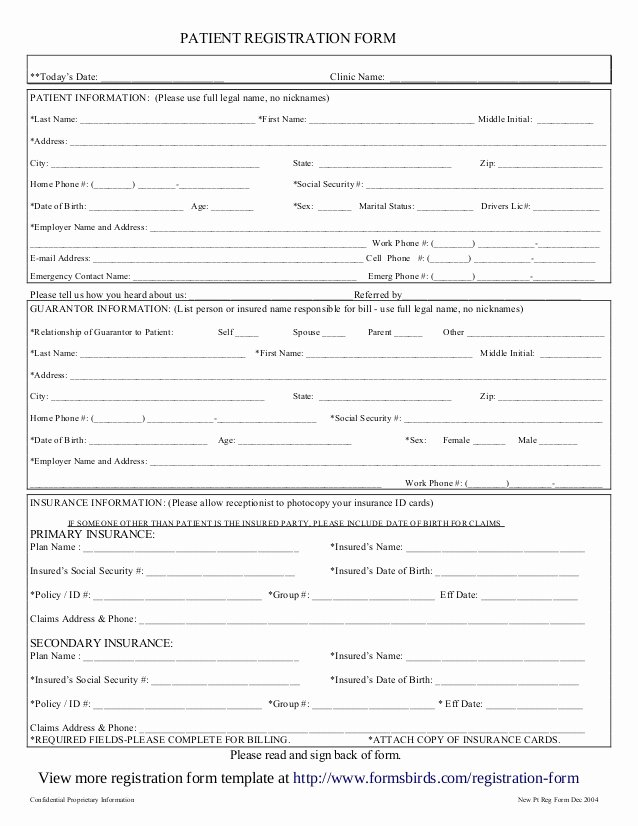 Patient Registration form Template Inspirational Registration form Template